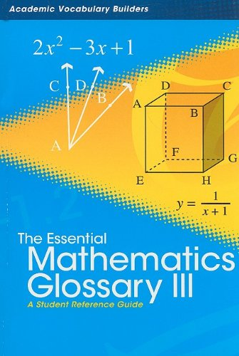The Essential Mathematics Glossary III: A Student: Red Brick Learning