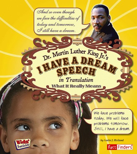 9781429634496: Dr. Martin Luther King Jr.'s I Have a Dream Speech in Translation: What It Really Means (Kids' Translations)