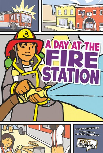 9781429656122: Day at the Fire Station, A (First Graphics: My Community)