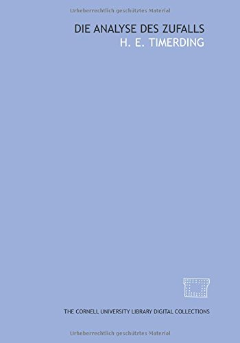 9781429701181: Die Analyse des Zufalls (German Edition)