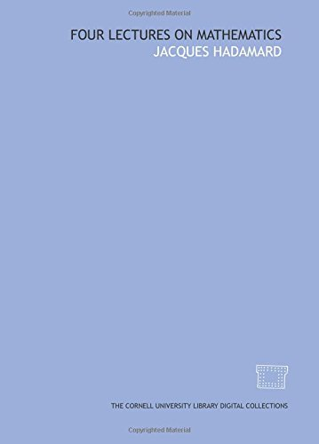 9781429702126: Four lectures on mathematics