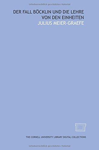 9781429742450: Der Fall Böcklin und die Lehre von den Einheiten (German Edition)