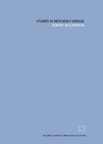 9781429758048: Studies in deficiency disease