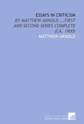 Arnold  Complete Essays  Abebooks Essays In Criticism By Matthew Arnold First Matthew Arnold Science Fair Essay also Healthy Diet Essay  Politics And The English Language Essay