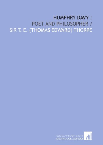 9781429766395: Humphry Davy :: poet and philosopher /