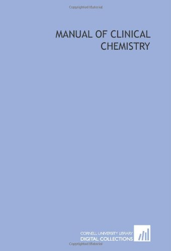 9781429776585: Manual of clinical chemistry