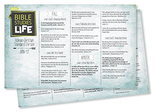 9781430066583: Bible Studies For Life: Kids Verse Cards for 2016-2017 - KJV Pkg. 10