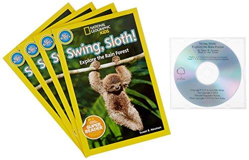 Swing, Sloth! (4 Paperback/1 CD): Explore the Rain Forest (Paperback): Susan B. Neuman