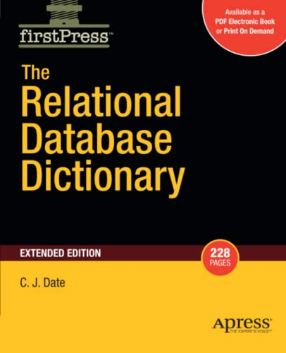 9781430210412: The Relational Database Dictionary, Extended Edition (Firstpress)