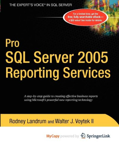9781430212553: Pro SQL Server 2005 Reporting Services