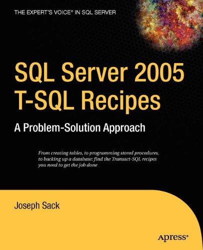 9781430213192: SQL Server 2005 T-SQL Recipes