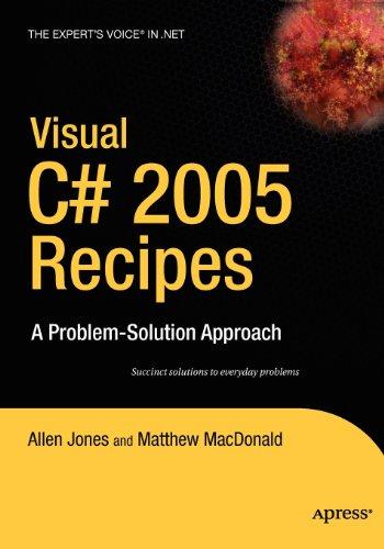 9781430213338: Visual C# 2005 Recipes