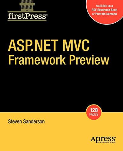 9781430216469: ASP.NET MVC Framework Preview (Firstpress)