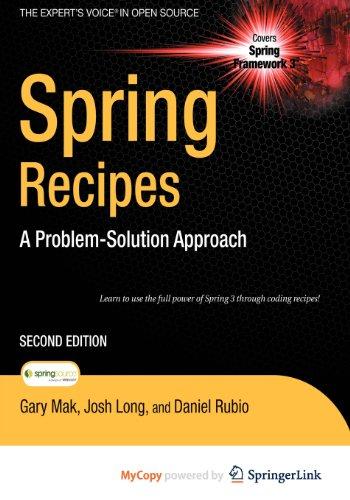 9781430223016: Spring Recipes