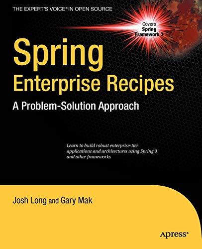 9781430224976: Spring Enterprise Recipes: A Problem-Solution Approach