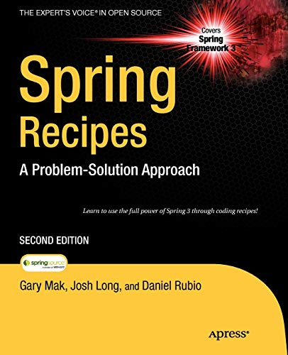 9781430224990: Spring Recipes: A Problem-Solution Approach