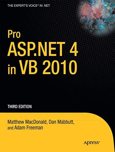9781430225119: Pro ASP.NET 4 in VB 2010