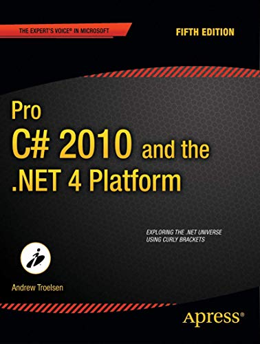 9781430225492: Pro C# 2010 And The .NET 4.0 Platform 5th Edition