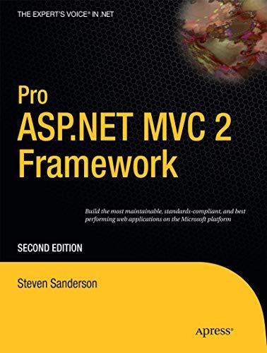Pro Asp.net Mvc 2 Framework (expert's Voice in .net)