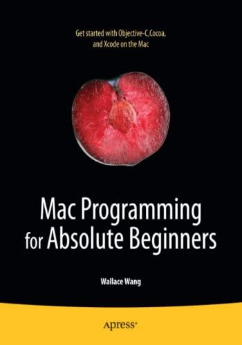 9781430233367: Mac Programming for Absolute Beginners