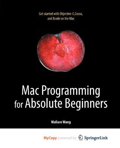 9781430233381: Mac Programming for Absolute Beginners