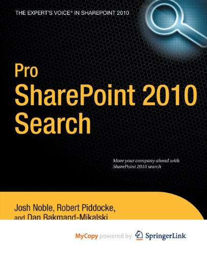 9781430234098: Pro SharePoint 2010 Search