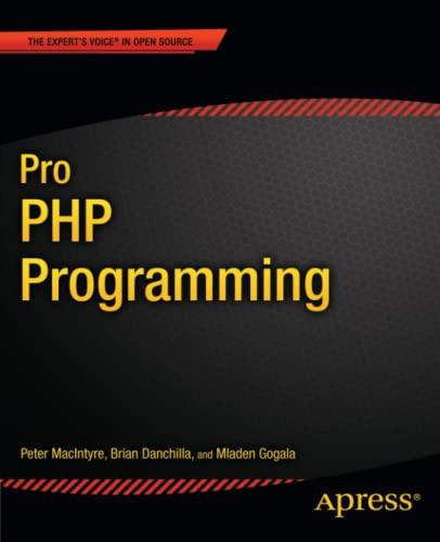 9781430235606: Pro PHP Programming (Professional Apress)
