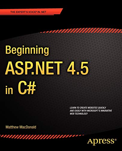 9781430242512: Beginning ASP.Net 4.5 in C# (Beginning Apress)