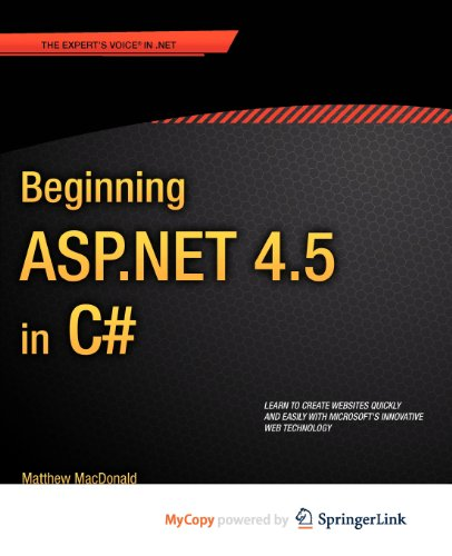 9781430242536: Beginning ASP.NET 4.5 in C#