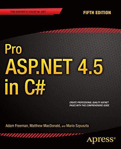 Pro ASP.NET 4.5 in C#: Adam Freeman