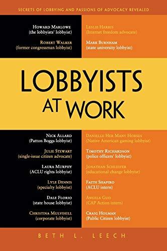 9781430245605: Lobbyists at Work