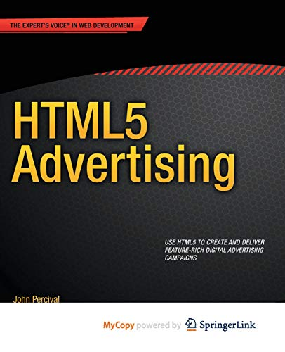 9781430246046: HTML5 Advertising by Percival, John (2013)
