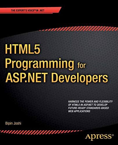 9781430247203: Html5 Programming for ASP.Net Developers (Expert's Voice in .NET)