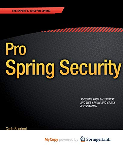 9781430248200: Pro Spring Security