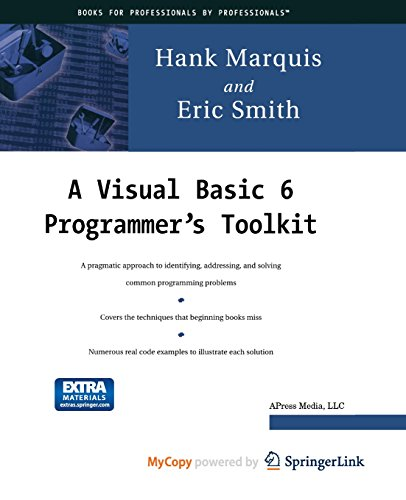 9781430251262: A Visual Basic 6 Programmer's Toolkit