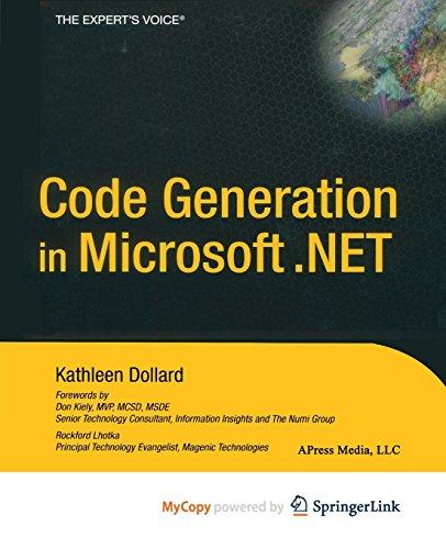 9781430254089: Code Generation in Microsoft .NET