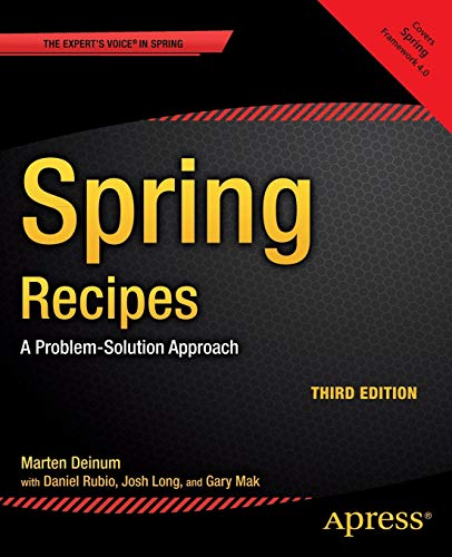 9781430259084: Spring Recipes: A Problem-Solution Approach