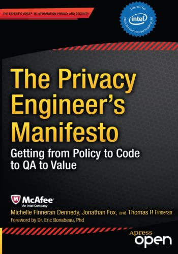 9781430263555: The Privacy Engineer's Manifesto: Getting from Policy to Code to QA to Value
