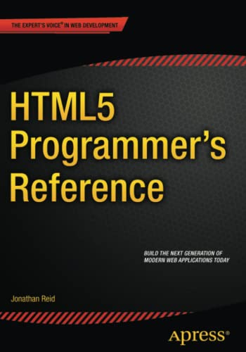 9781430263678: HTML5 Programmer's Reference