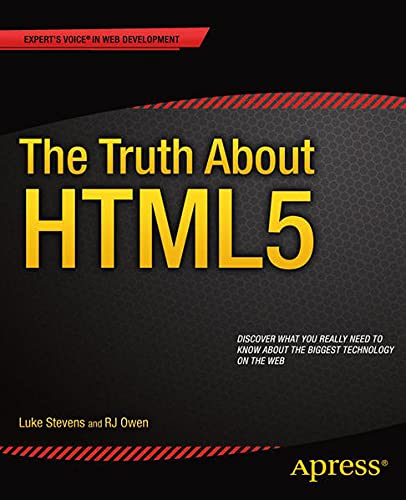 9781430264163: Truth about Html5