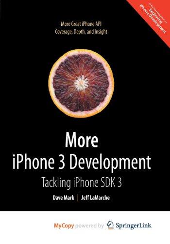 9781430269571: More iPhone 3 Development: Tackling iPhone SDK 3