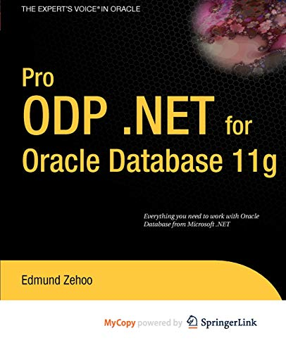 9781430270683: Pro ODP.NET for Oracle Database 11g