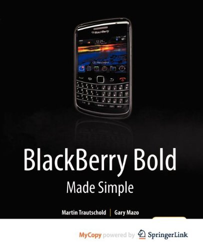 9781430271949: BlackBerry Bold Made Simple: For the BlackBerry Bold 9700 Series