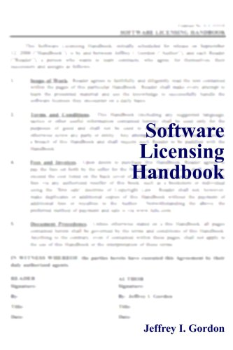 Software Licensing Handbook: Gordon, Jeffrey