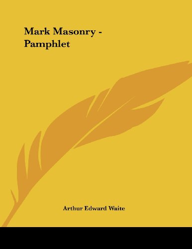 9781430434832: Mark Masonry - Pamphlet