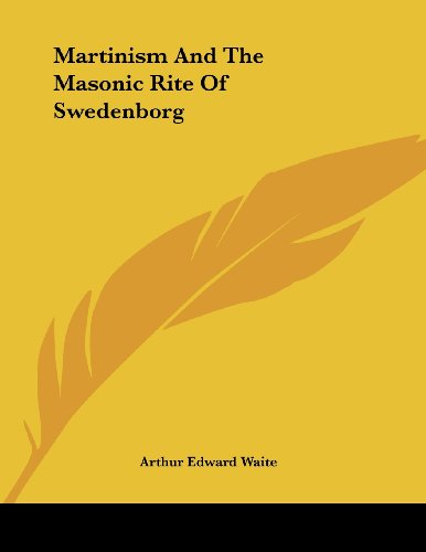 9781430436799: Martinism and the Masonic Rite of Swedenborg