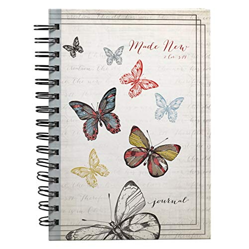 Butterflies: Made New Large Journal: 2 Cor. 5:17 (Spiral)