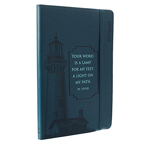9781432110659: Journal - Lux-Leather - Navy Blue Lighthouse