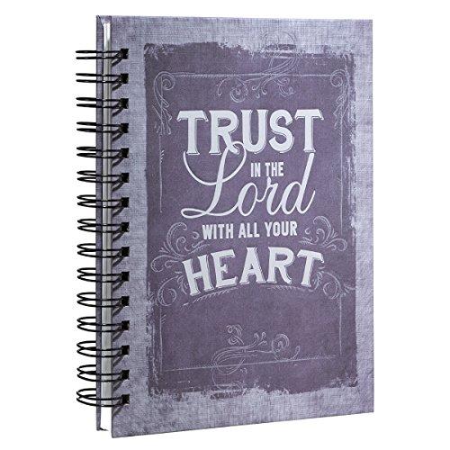 9781432112448: Purple Vintage Graphic Hardcover Wirebound Journal - Proverbs 3:5