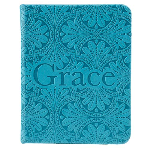 christian art gifts teal faux leather mini